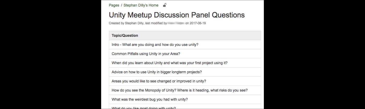 unity meetup panel